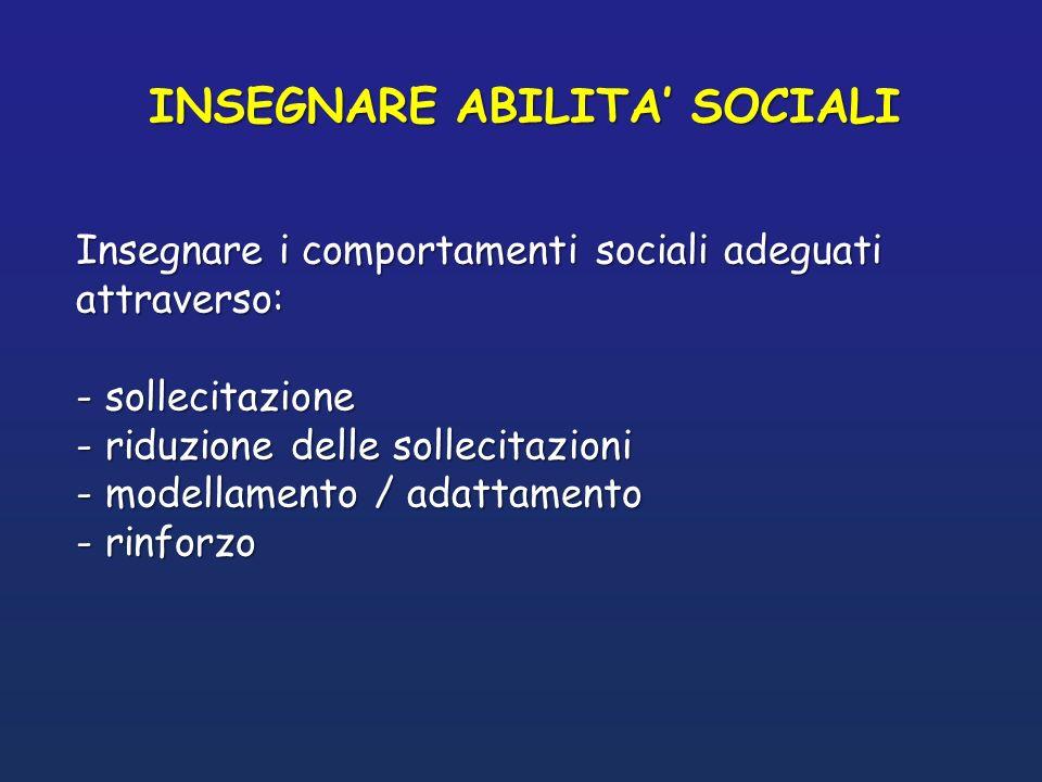 INSEGNARE ABILITA' SOCIALI
