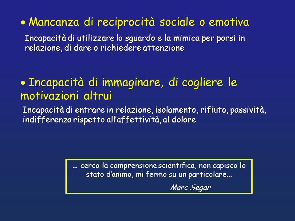 Mancanza di reciprocità sociale o emotiva