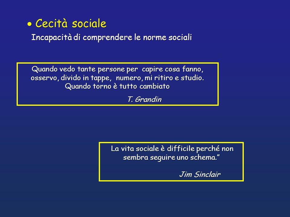 La vita sociale è difficile perché non sembra seguire uno schema.