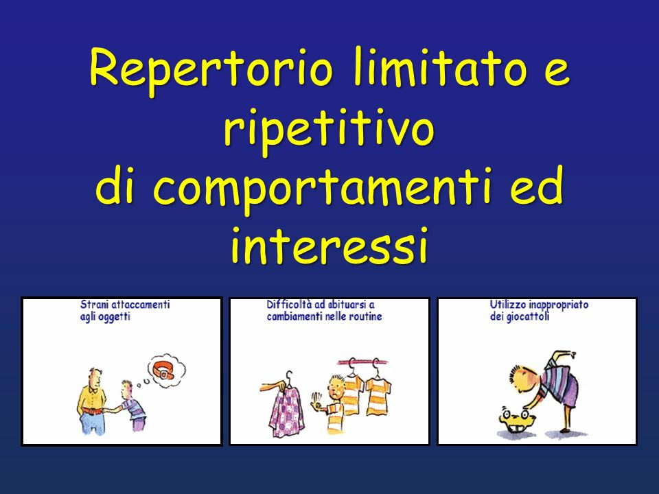 Repertorio limitato e ripetitivo di comportamenti ed interessi