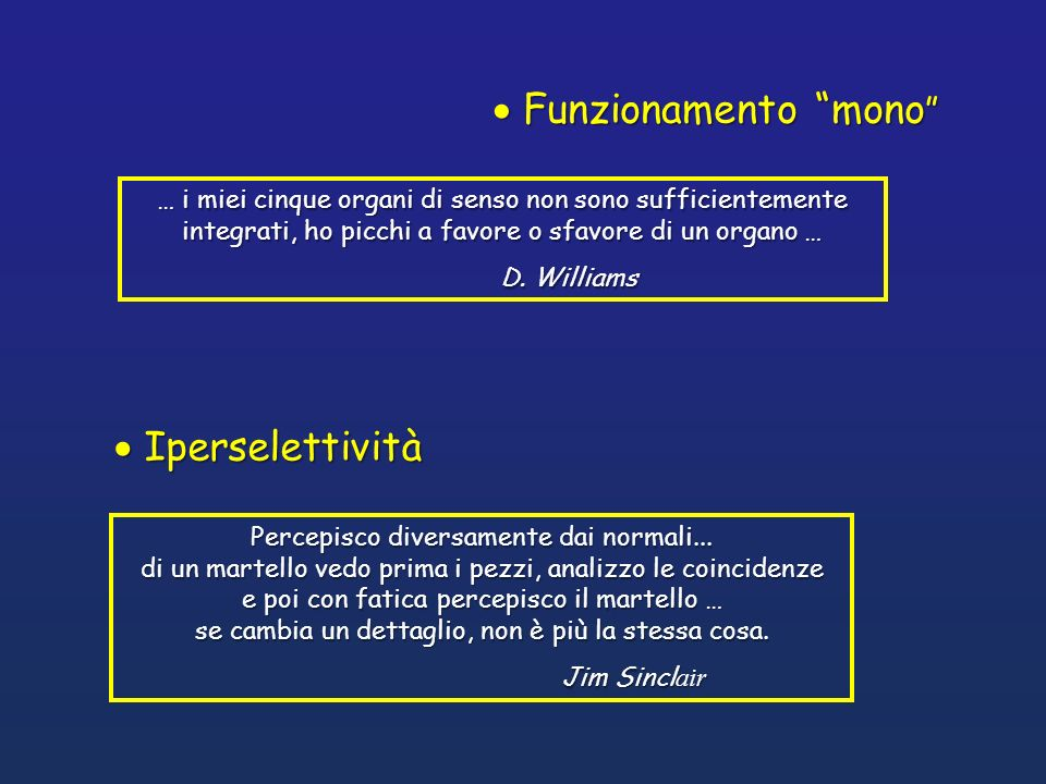 Funzionamento mono Iperselettività