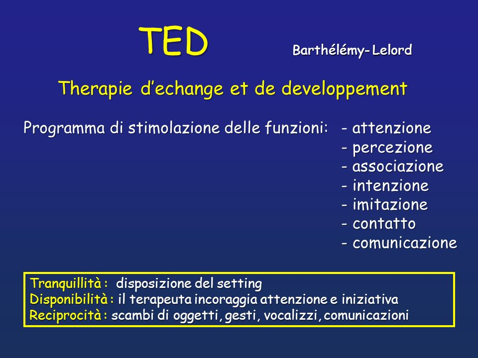 TED Therapie d'echange et de developpement