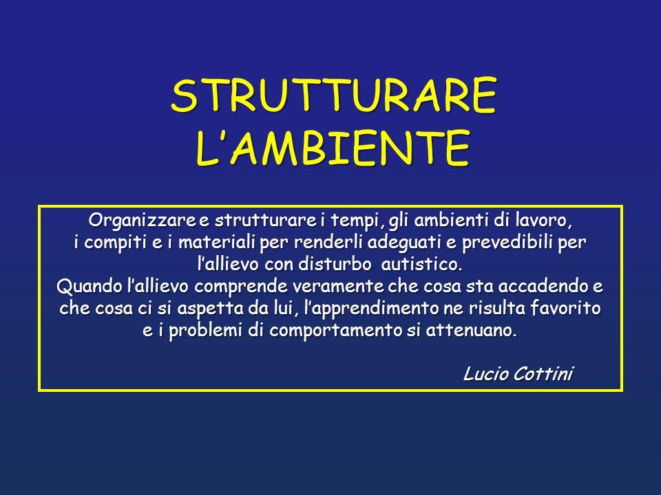 STRUTTURARE L'AMBIENTE