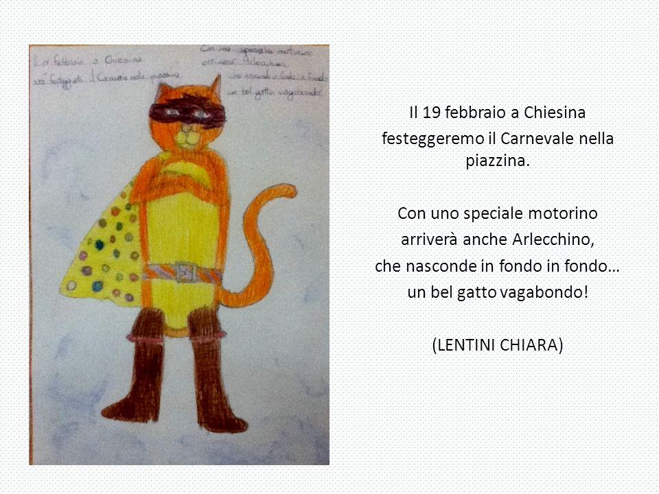 Il 19 febbraio a Chiesina festeggeremo il Carnevale nella piazzina