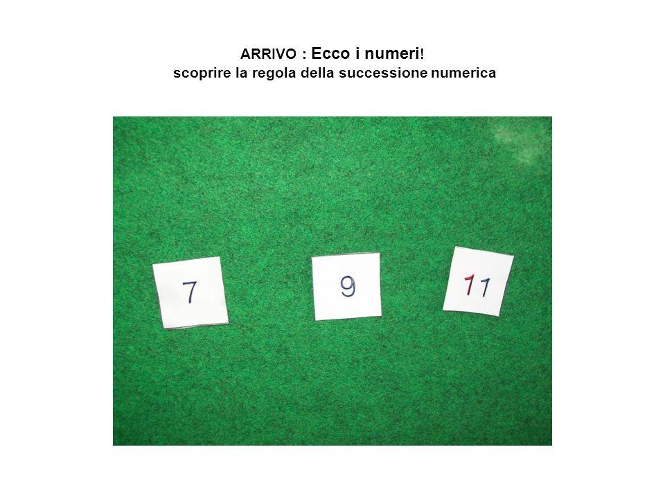 ARRIVO : Ecco i numeri! scoprire la regola della successione numerica