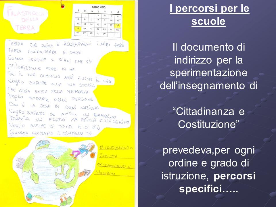 Il documento di indirizzo per la sperimentazione dell'insegnamento di