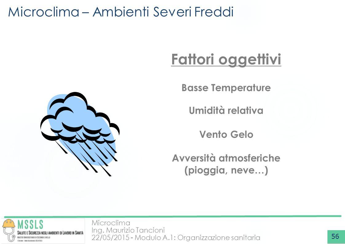 Microclima – Ambienti Severi Freddi