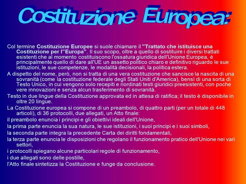 Costituzione Europea: