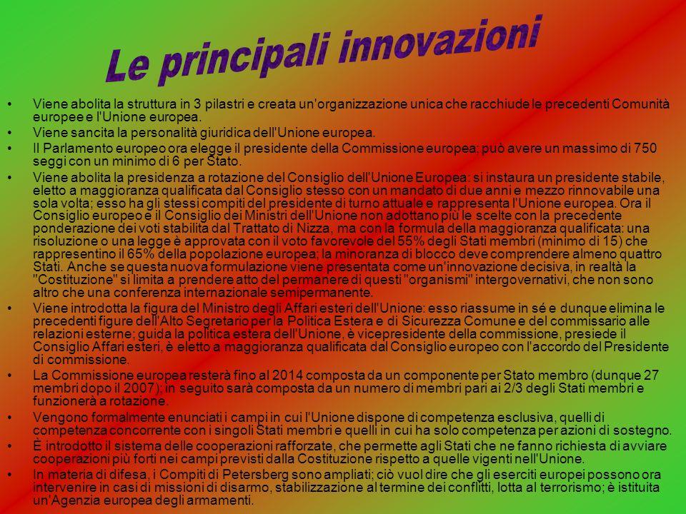 Le principali innovazioni