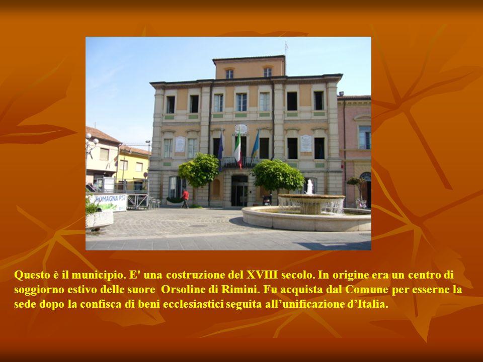 Questo è il municipio. E una costruzione del XVIII secolo