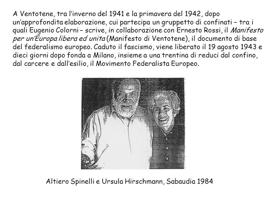 Altiero Spinelli e Ursula Hirschmann, Sabaudia 1984