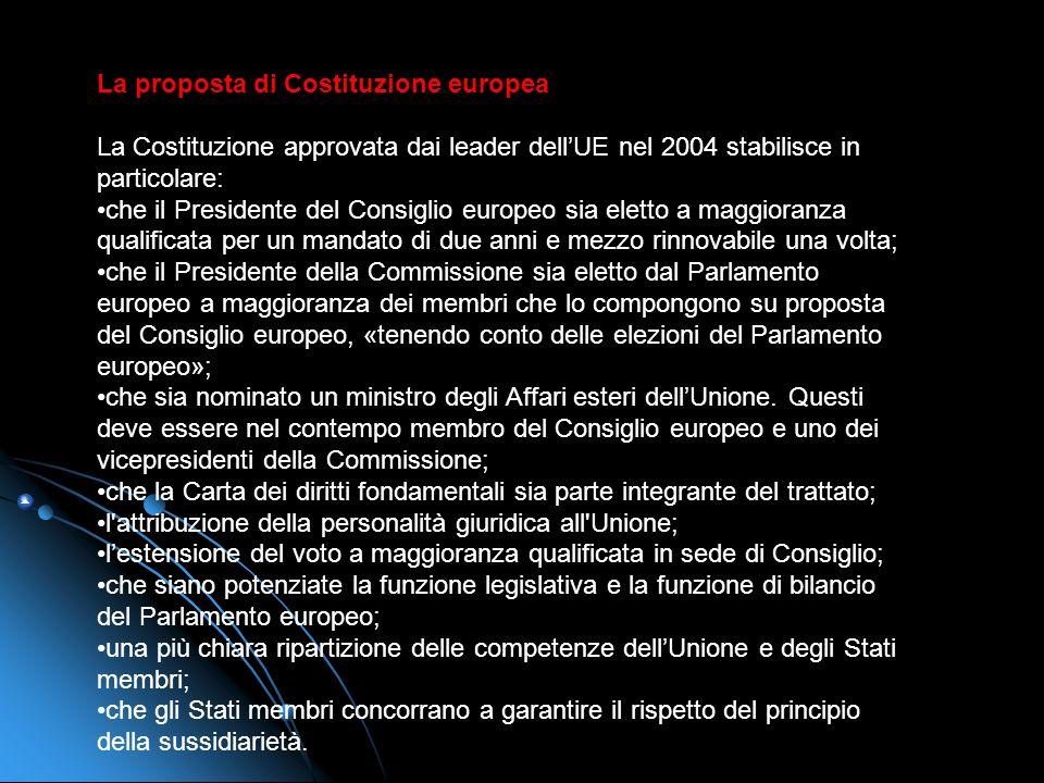La proposta di Costituzione europea