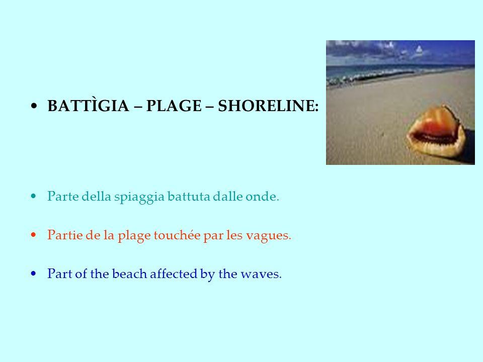 BATTÌGIA – PLAGE – SHORELINE:
