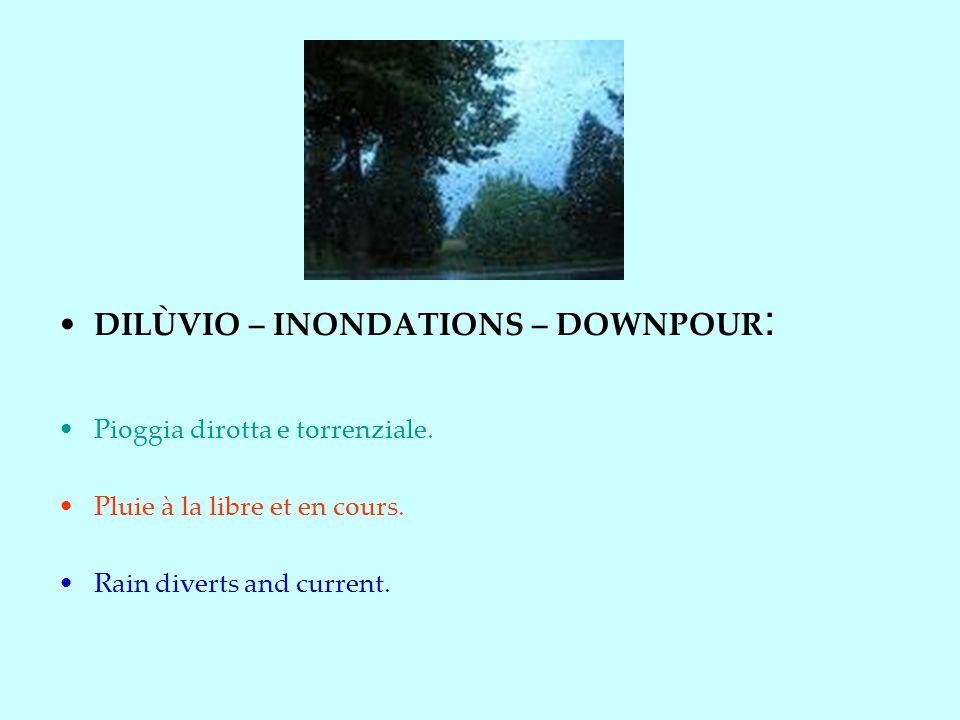 DILÙVIO – INONDATIONS – DOWNPOUR: