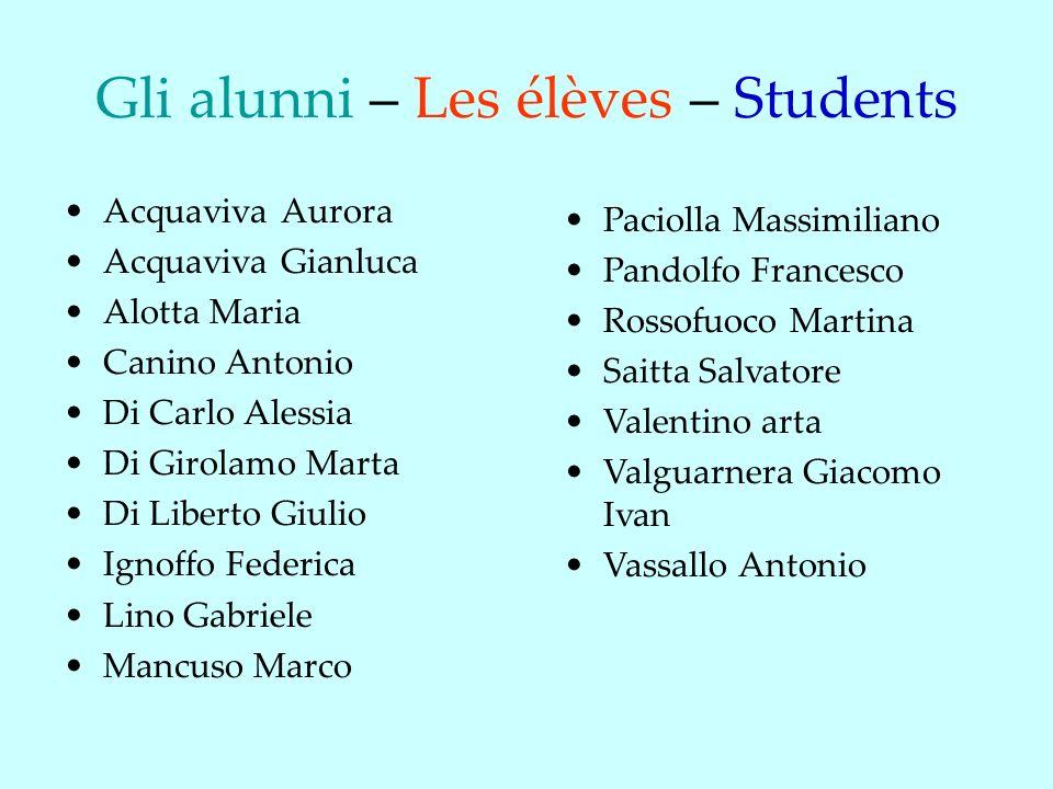 Gli alunni – Les élèves – Students