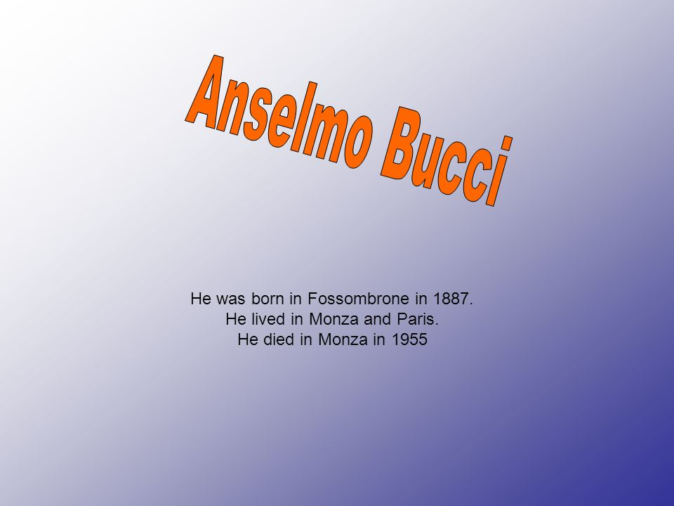 Anselmo Bucci He was born in Fossombrone in 1887.