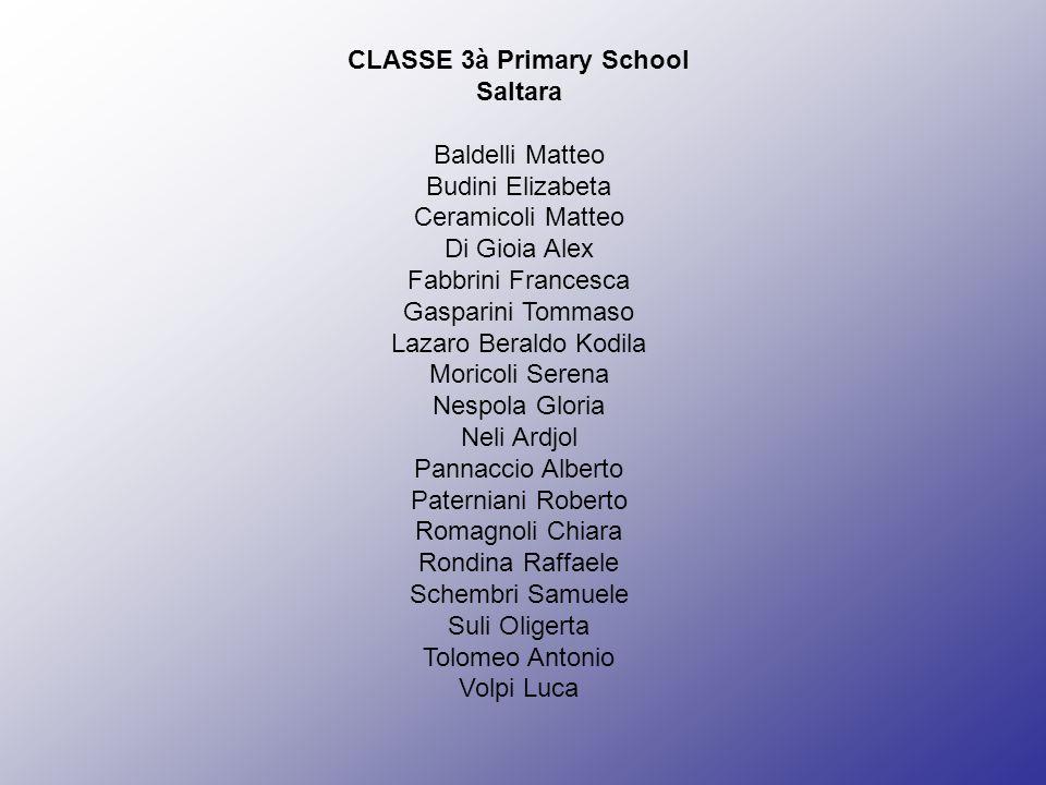 CLASSE 3à Primary School