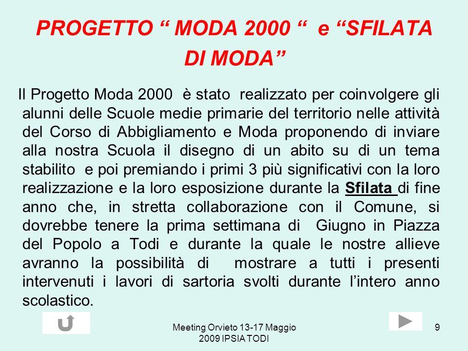 PROGETTO MODA 2000 e SFILATA DI MODA