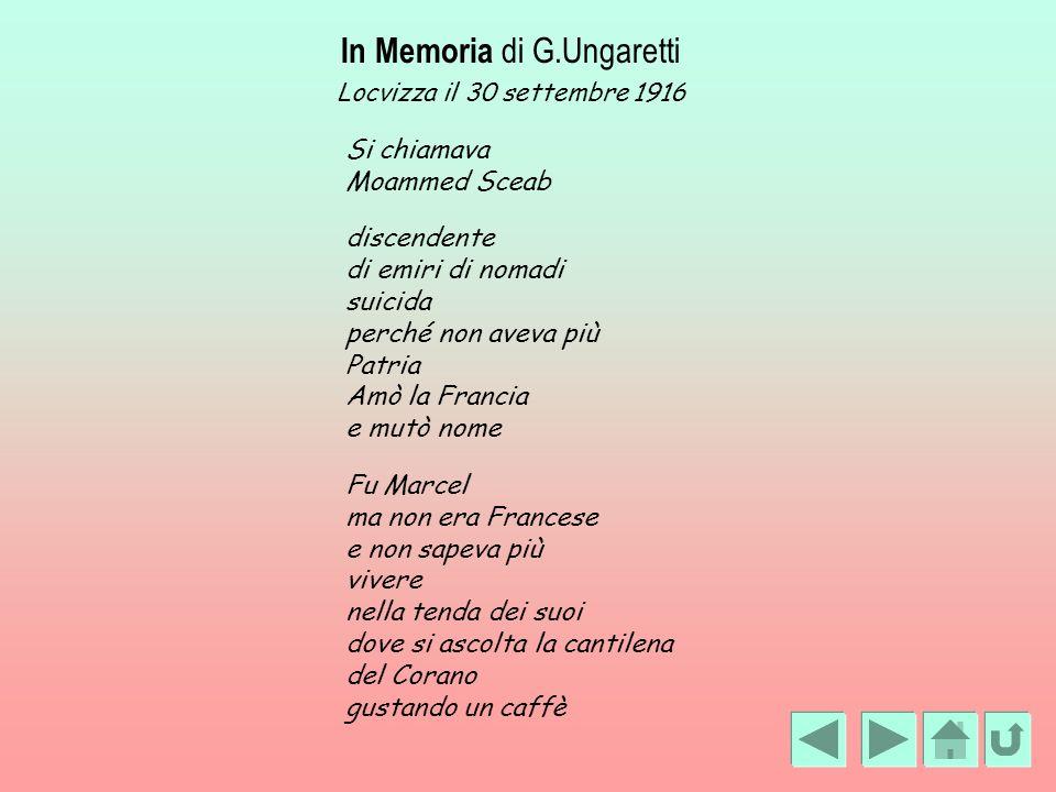 In Memoria di G.Ungaretti