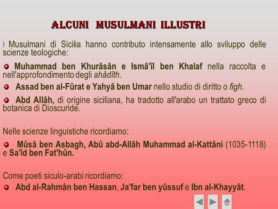 ALCUNI Musulmani illustri