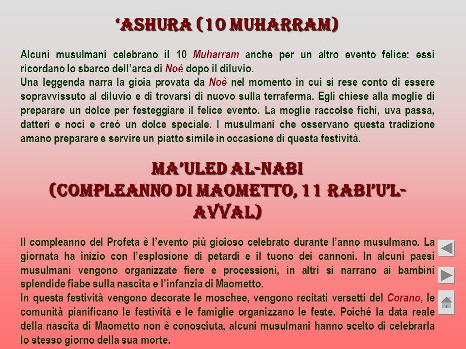(compleanno di Maometto, 11 Rabi'u'l-Avval)