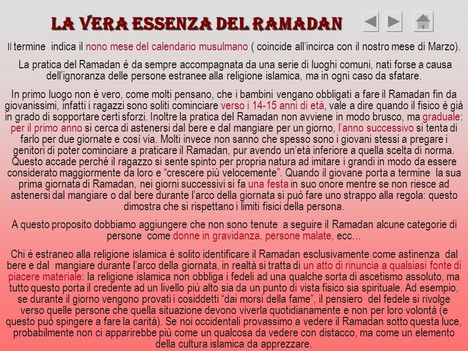 La vera essenza del Ramadan