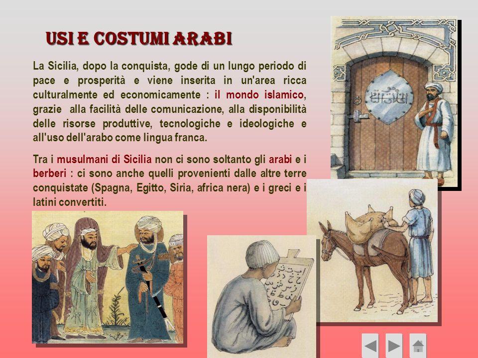 USI E COSTUMI ARABI