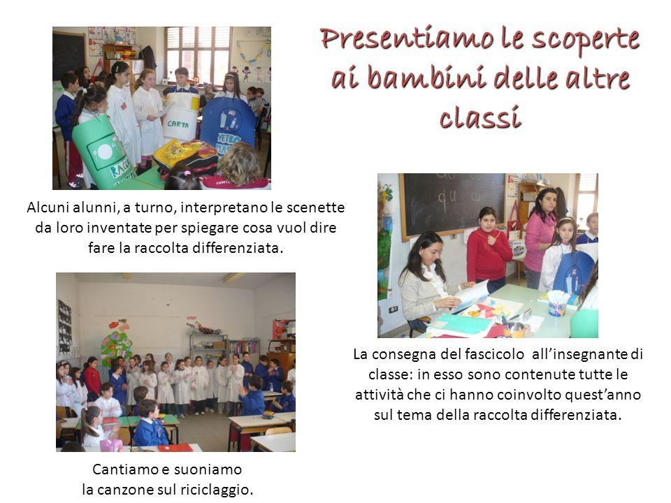 Presentiamo le scoperte ai bambini delle altre classi