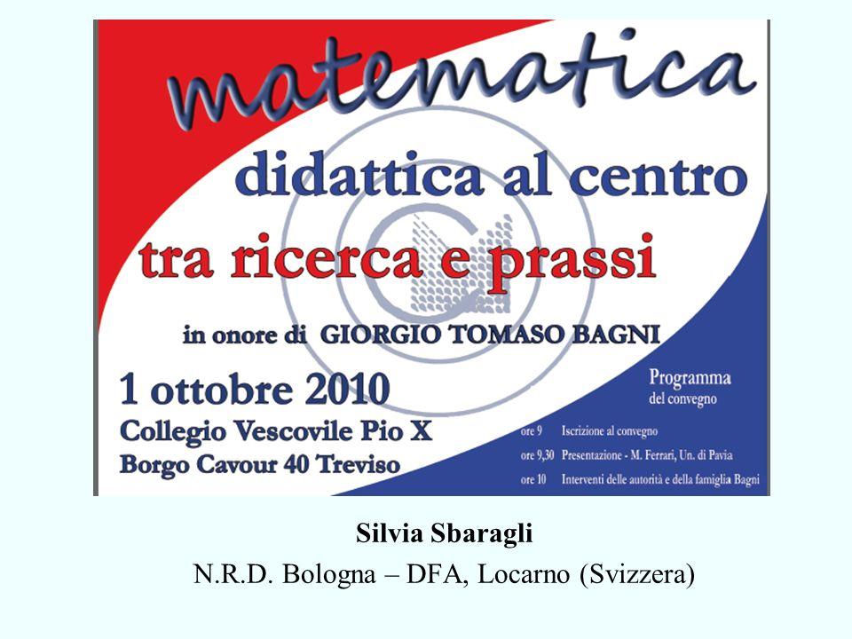 Silvia Sbaragli N.R.D. Bologna – DFA, Locarno (Svizzera)