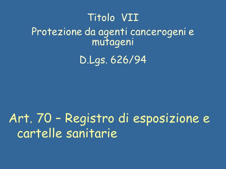 Protezione da agenti cancerogeni e mutageni