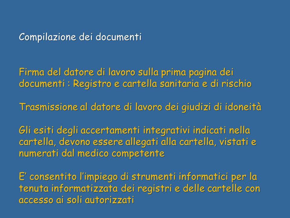 Compilazione dei documenti