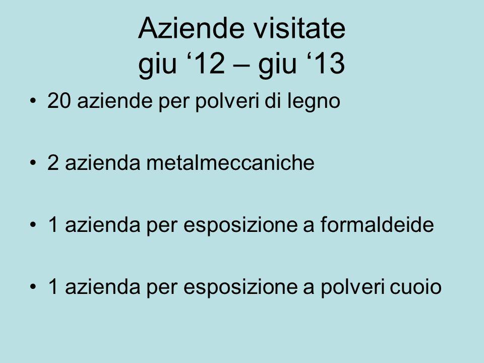 Aziende visitate giu '12 – giu '13