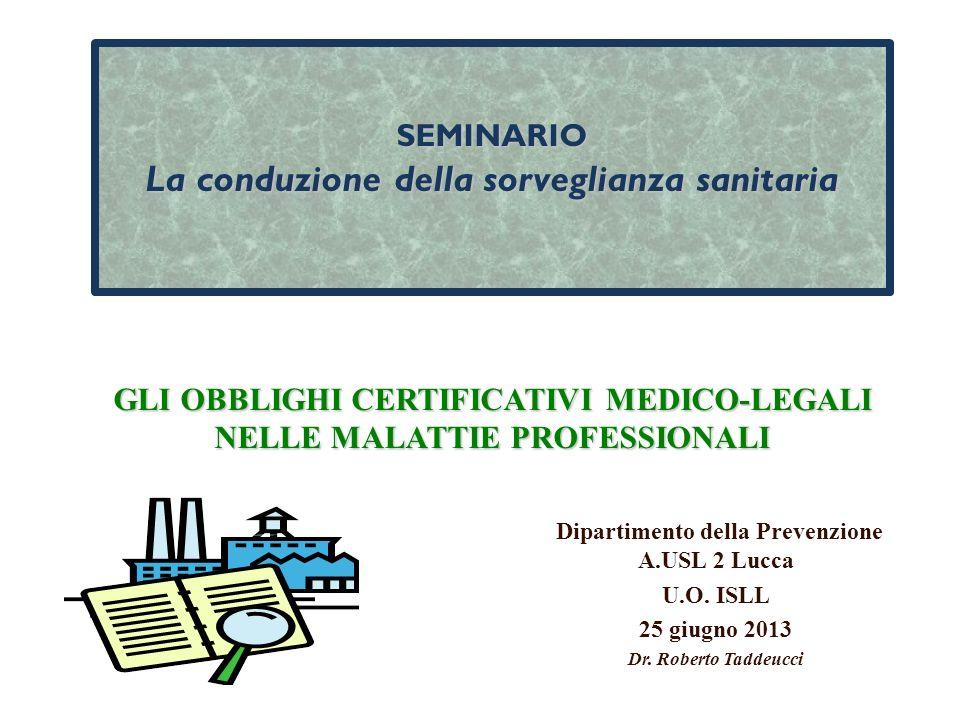 Dipartimento della Prevenzione A.USL 2 Lucca