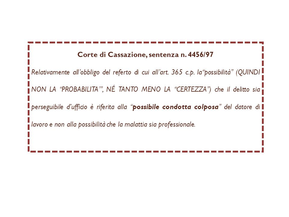 Corte di Cassazione, sentenza n. 4456/97