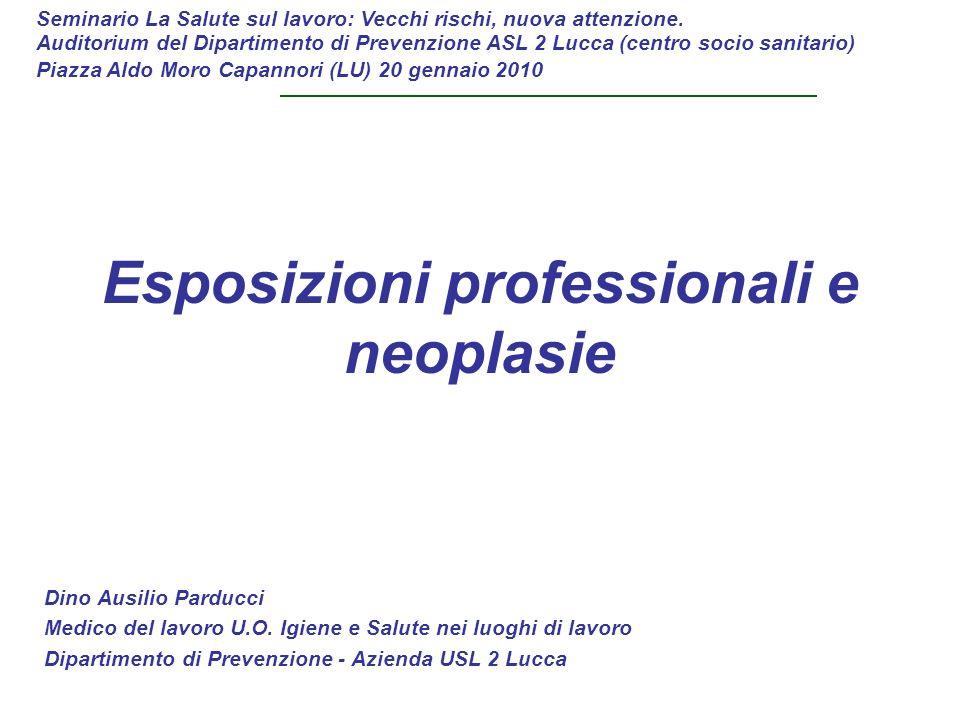 Esposizioni professionali e neoplasie