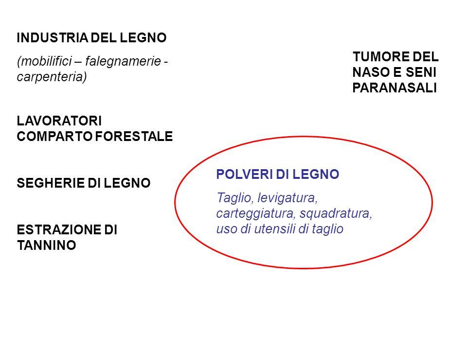 INDUSTRIA DEL LEGNO (mobilifici – falegnamerie - carpenteria) LAVORATORI COMPARTO FORESTALE. SEGHERIE DI LEGNO.