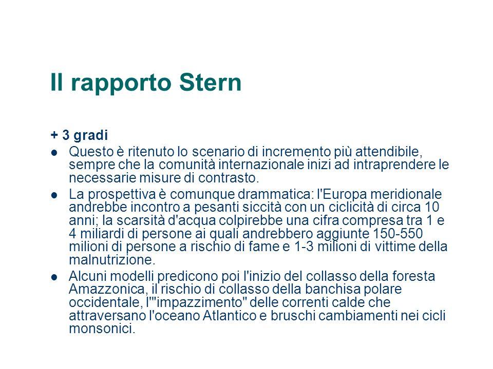 Il rapporto Stern + 3 gradi