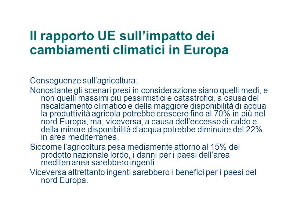 Il rapporto UE sull'impatto dei cambiamenti climatici in Europa