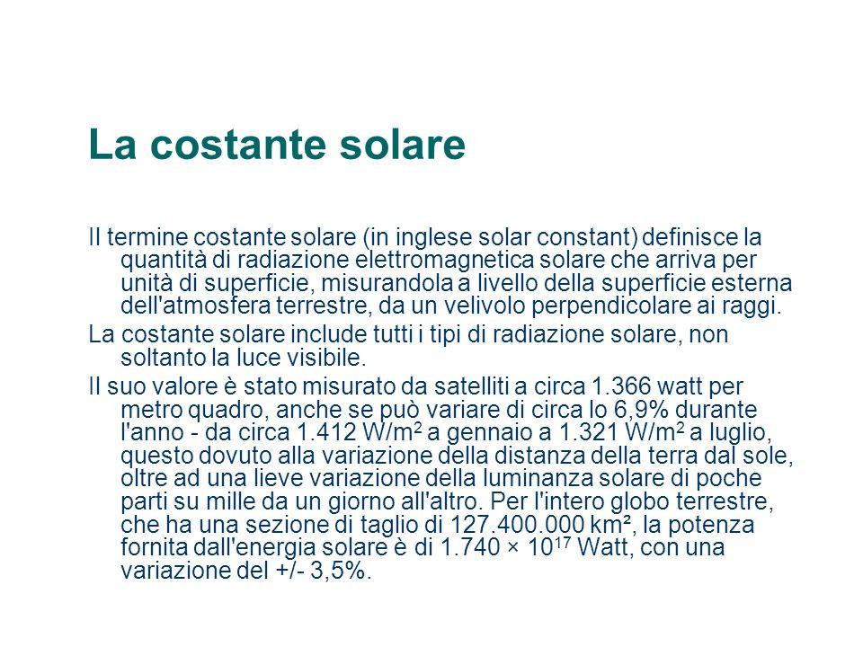 La costante solare