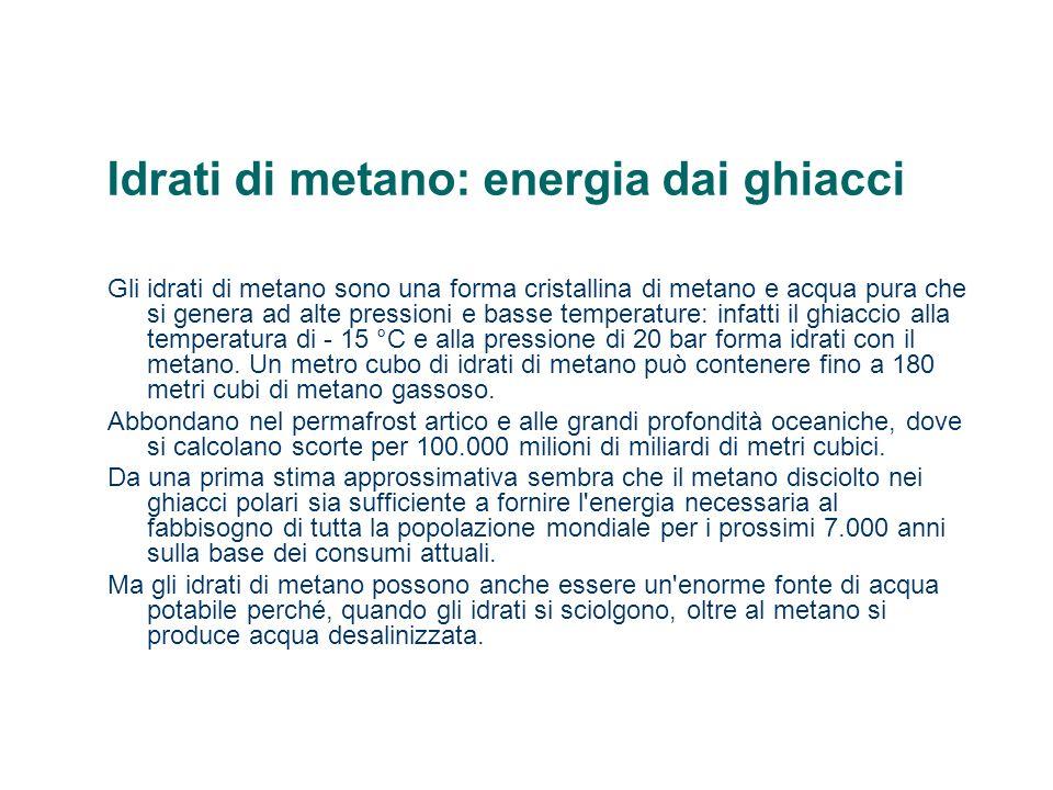 Idrati di metano: energia dai ghiacci