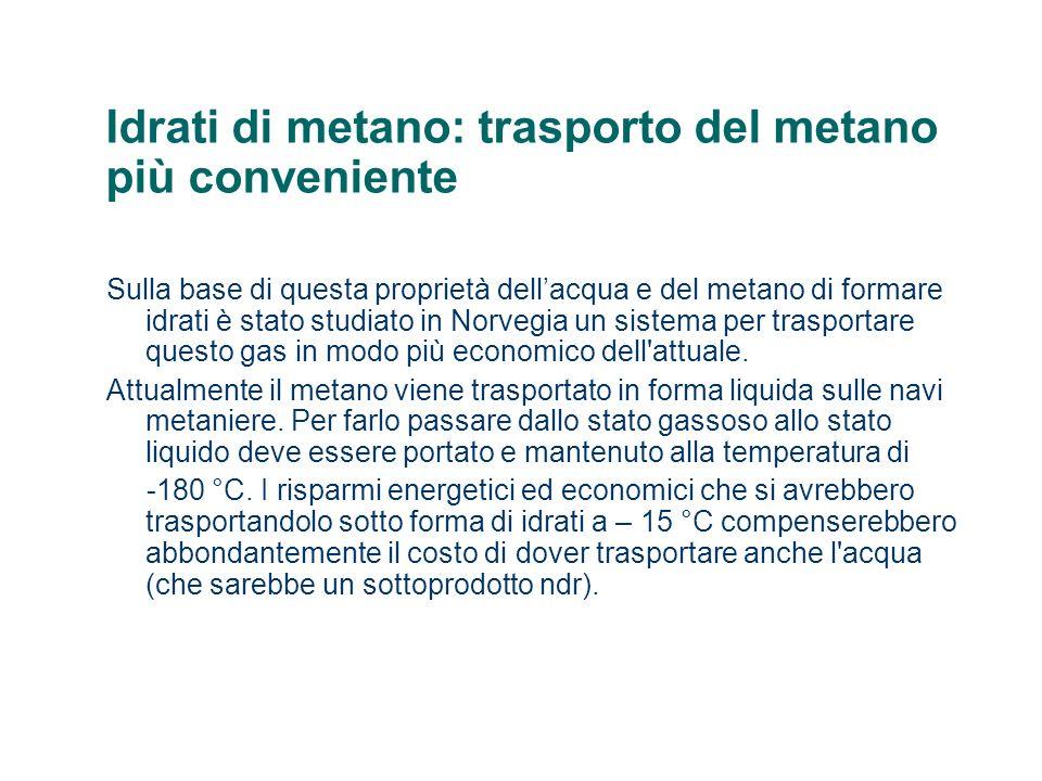 Idrati di metano: trasporto del metano più conveniente