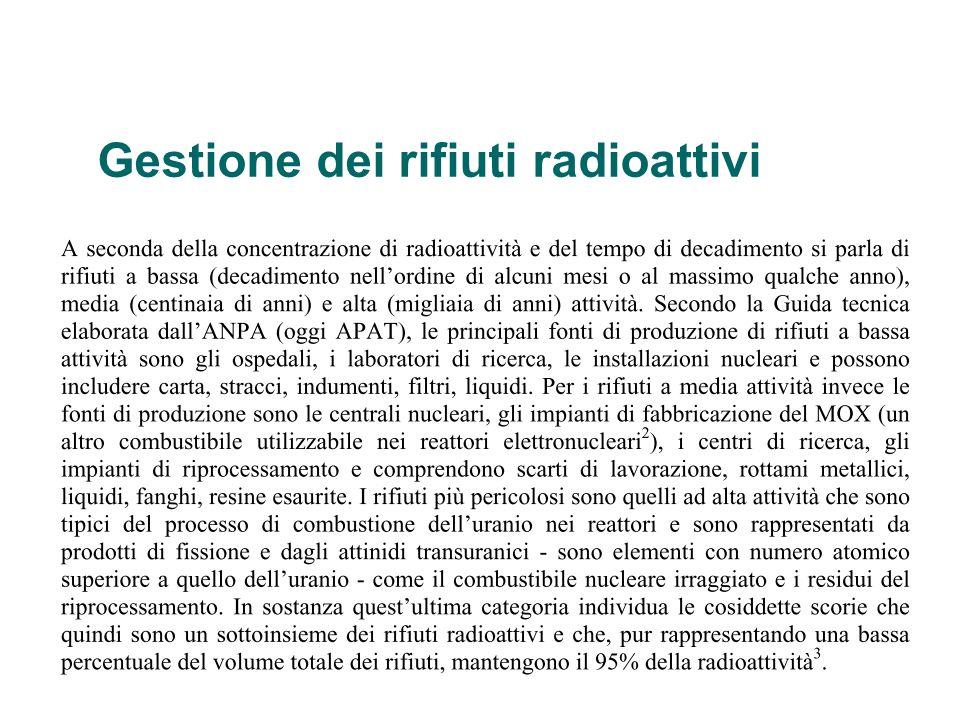 Gestione dei rifiuti radioattivi