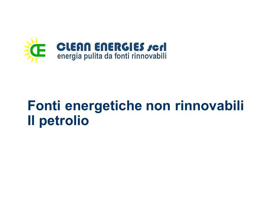 Fonti energetiche non rinnovabili Il petrolio