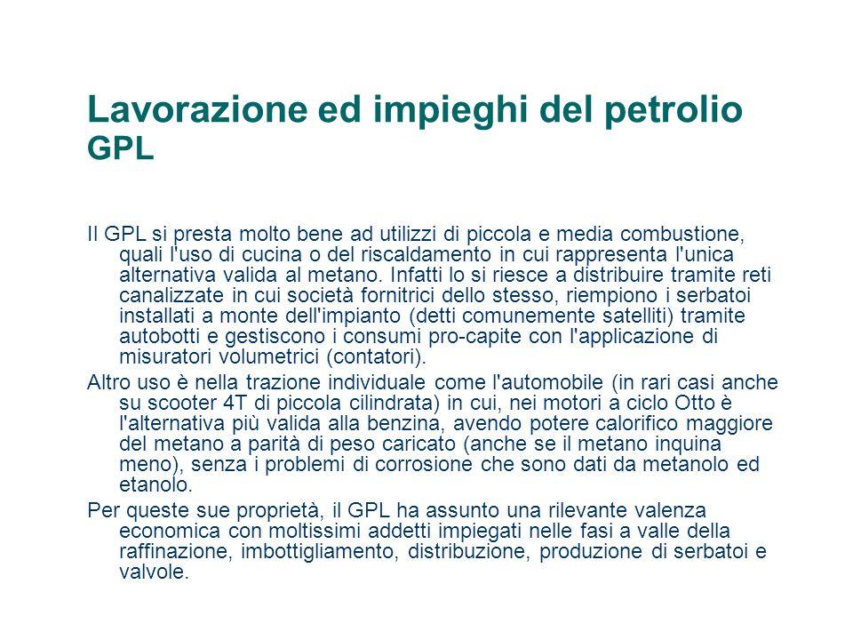 Lavorazione ed impieghi del petrolio GPL