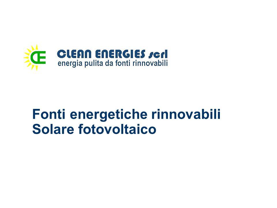Fonti energetiche rinnovabili Solare fotovoltaico