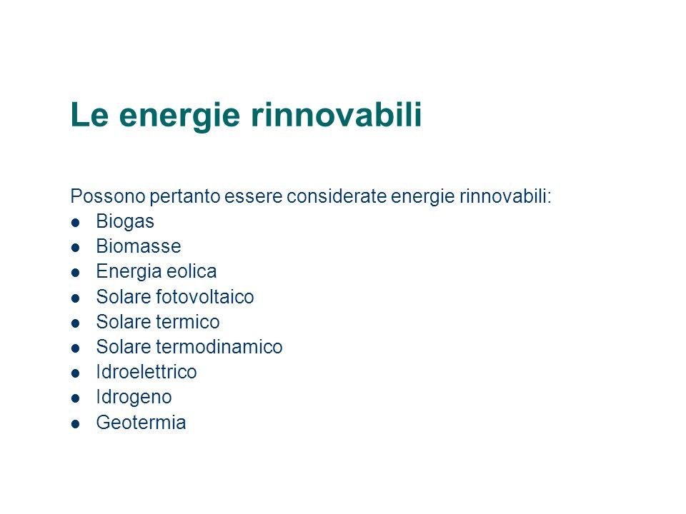 Le energie rinnovabili