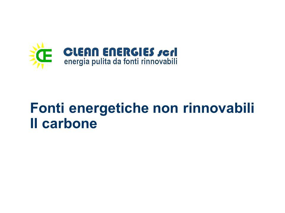 Fonti energetiche non rinnovabili Il carbone