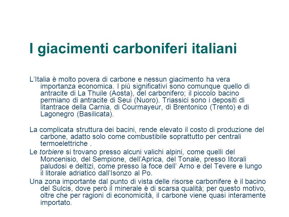 I giacimenti carboniferi italiani