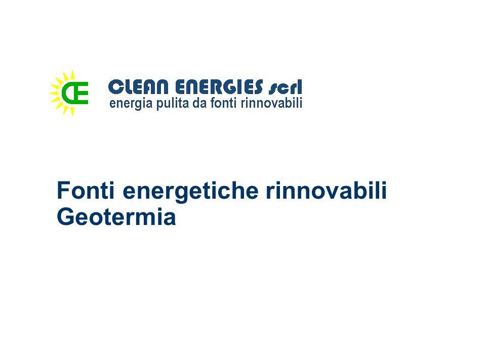 Fonti energetiche rinnovabili Geotermia