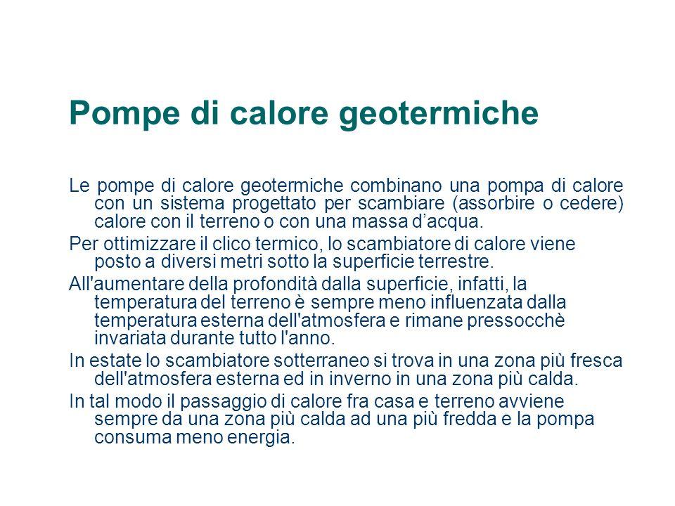 Pompe di calore geotermiche